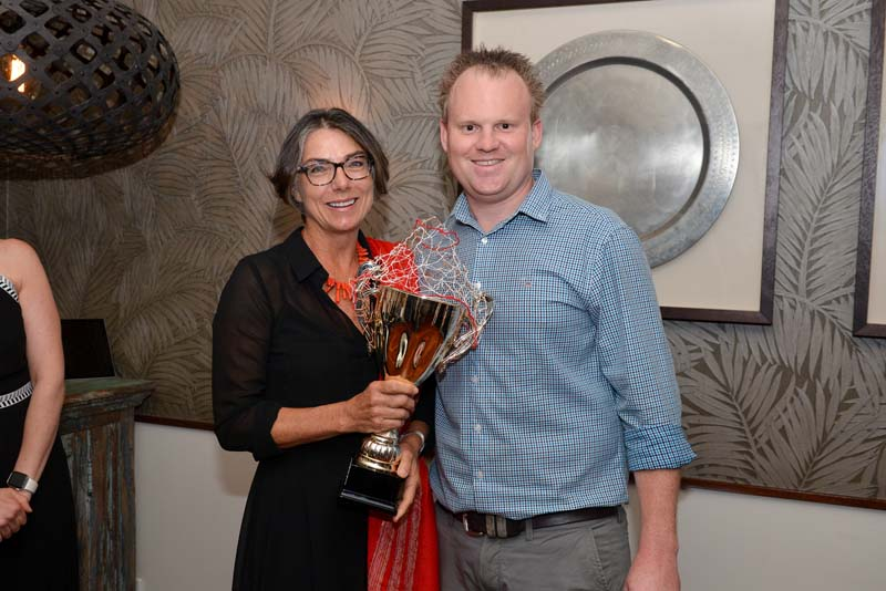 The overall winner, Yanni Van Zijl is pictured with Spicers Tamarind's manager, Ryan Dillon.