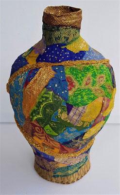 Judi-Tompkins---Cloth-Mache-Kintsugi-Vase