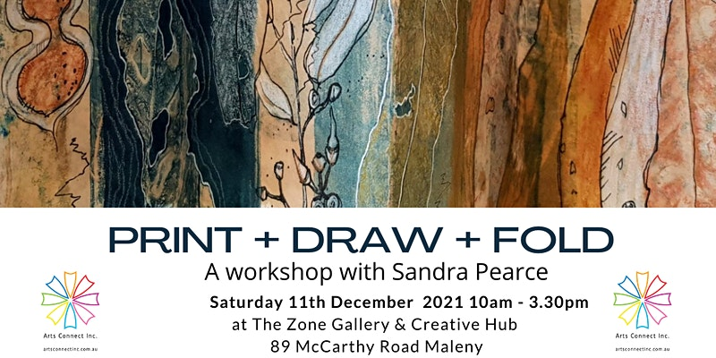Print + Draw + Fold Workshop with Sandra Pearce